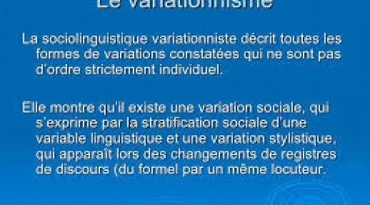 SOCIOLINGUISTIQUE VARIATIONNISME HADJARI FARID