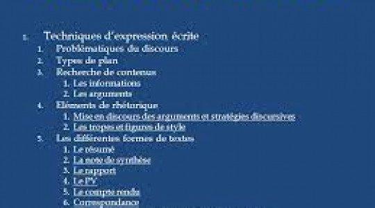 Techniques d'expression