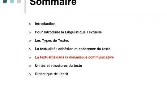 Critères de textualité